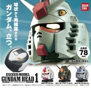 [LAST SET] Bandai Exceed Model Gundam Head Gashapon - Set of 3