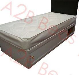 Single Divan Bed with Slider Storage (Mattress and base) - FREE DELIVERY
