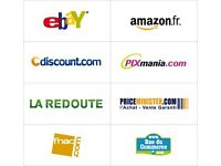 eCommerce sales Assistant For eBay , Rakuten, Cdiscount, Fnac, website. £8 per hour