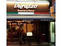 Experienced chef and waitress required at italian restaurant