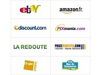 eCommerce sales Assistant For eBay , amazon, Rakuten, Cdiscount, Fnac, website. £8 per hour