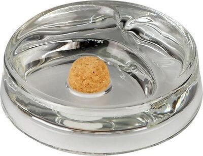 Pfeifenascher Glas rund transparent mit 2 Ablagen ca. 16 cm NEU OVP