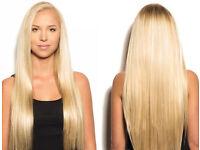 £175 Ful head TIP MICRO RING, MICRO LOOP, keratin bonds 20 inches Hair extensions human hair
