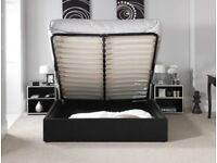 AMAZING OFFER!! BRAND NEW GAS LIFT UP STORAGE Double LEATHER BED & WIDE RANGE OF MATTRESS