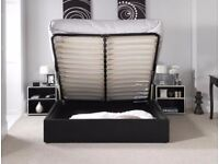best selling BRAND NEW GAS LIFT UP STORAGE Double LEATHER BED & MEMORY FOAM MATTRESS