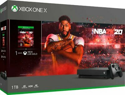 Microsoft XBOX ONE X 1TB - NBA 2k20 Bundle - Black
