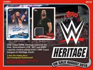 2018 Topps WWE Heritage Wrestling Available @ Breakaway