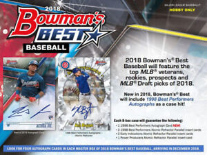 2018 Bowman's Best Baseball Available Friday, December 21st