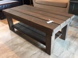 Rustic Wood Coffee Tables. Various Stain Colors. $295 Each. In Stock