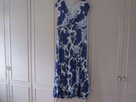 Dress, shrug and fascinator