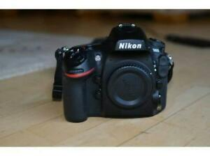 Nikon d800 full frame body with charger