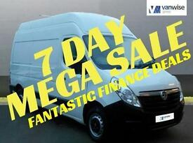 2014 Vauxhall Movano F3500 L2H3 P/V CDTI Diesel white Manual