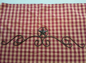 Rustic/country rod iron wall art
