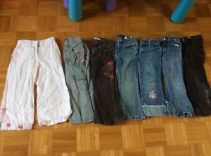 Lot de pantalons fille 3ans