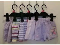 11 pairs of girls shorts size 12-18 months / 1-1.5 years.