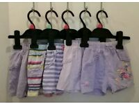 11 pairs of girls shorts size 12-18 months / 1-1.5 years