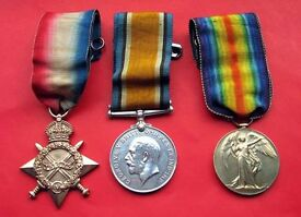WAR AND CAMPAIGN MEDALS WANTED