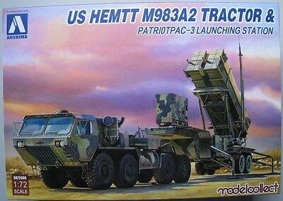 US Hemett M983A2 Tractor & Patriotpac-3 Bausatz AOSHIMA  1:72 OVP NEU