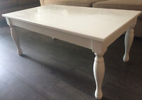 Classic White Wood Coffee Table - $40