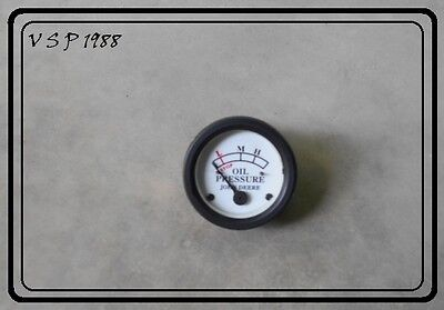 John Deere Oil Pressure Gauge White Face 52mm