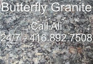 Butterfly Patio Pavers Green Granite Outdoor Flagstone Tiles