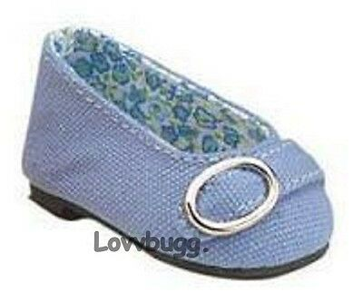"Blue Colonial Buckle for 18"" American Girl or Bitty Baby Doll Shoes"