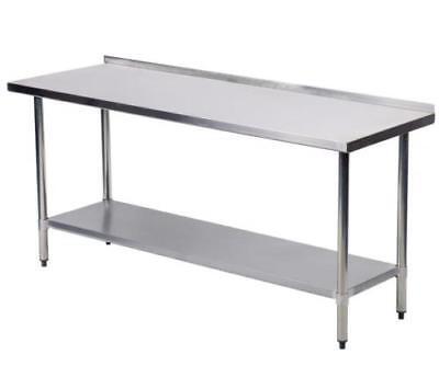 24x60 Stainless Steel Work Table W Backsplash Commercial Kitchen Restaurant