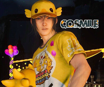 Final Fantasy Moogle Kostüm (Final Fantasy XV FFXV FF15 Moogle Chocobo Noctis Cosplay Hat Cap T-shirt Costume)