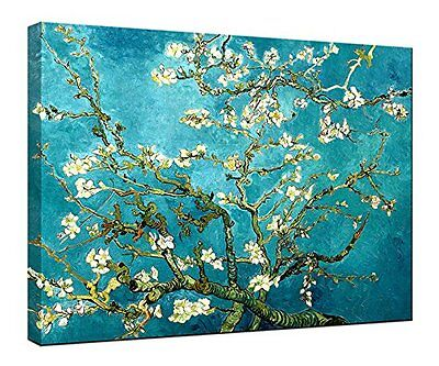 Canvas Print Picture Van Gogh Painting Repro Wall Art Home Decor Almond Blossom