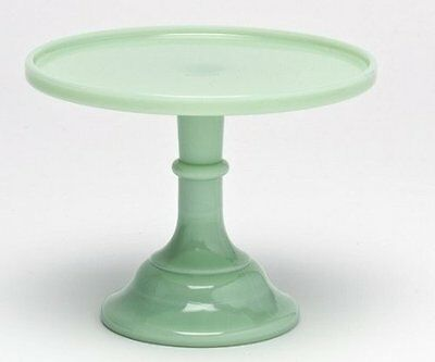Baker Stand (Cake Plate Pastry Tray Baker Stand Plain & Simple Jade Jadeite Green Glass 9