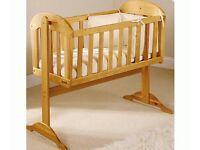 Baby nursery Swinging cot crib excellent condition