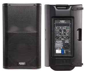 Two QSC K12 1000W speakers