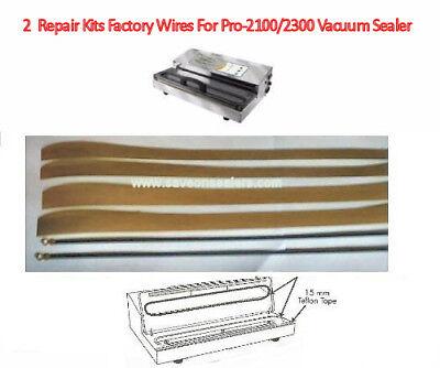 2 Weston PRO-2300/2100 CG-15 Series Maintenance Kits 4 Teflon + 2 Element wires