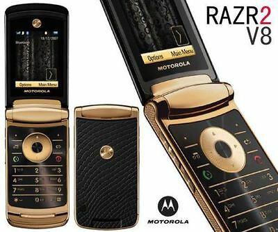 Luxury Edition Motorola MOTORAZR2 V8 2GB Gold (T-Mobile) Cellular Phone GSM  USA