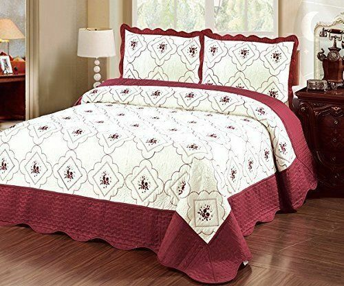 3pc bedspread quilted high quality bed cover