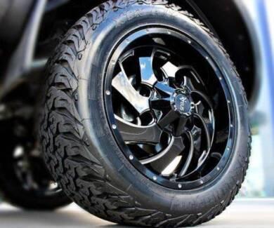 "(Hilux, Prado, Ranger, Triton) 20"" Nveus Vader Wheel+Tyre Package"