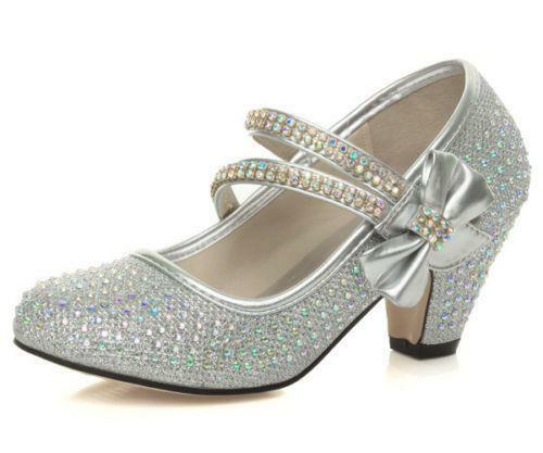 Childrens Sparkly Shoes With Heels Uk