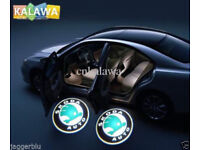 2 x 3D SKODA COB LED DOOR LOGO COURTESY LIGHT LASER GHOST PROJECTOR SHADOW PUDDLE LAMPS