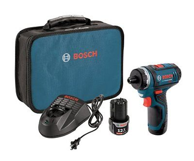 Bosch PS21 2A 12 Volt Max Lithium Ion 2 Speed Pocket Driver Kit with 2  ()