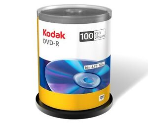 Kodak 16X DVD-R, 100-Pack: 1 Spindle - $35    or 2 for $60  OBO