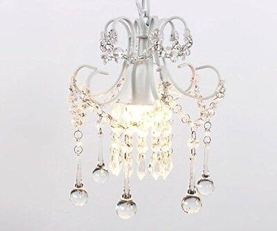 Elegant Vintage Crystal Chandelier Lighting Mini Rustic Ceiling Pendant Light