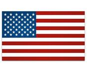 American Flag Car Decal