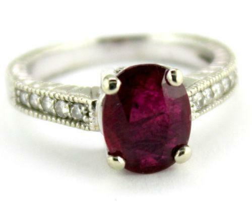 Diamond and Ruby Engagement Ring | eBay
