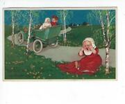 Antique Car Postcard