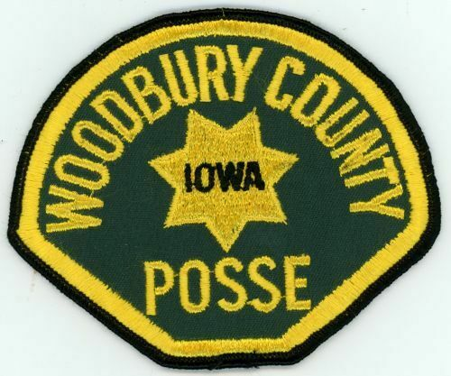 IOWA IA WOODBURY COUNTY SHERIFF POSSE OLD VINTAGE PATCH POLICE