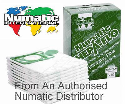 Genuine 4 x Pack Numatic Hepa-Flo Hoover Vacuum Bags Henry Hetty James NVM-1CH