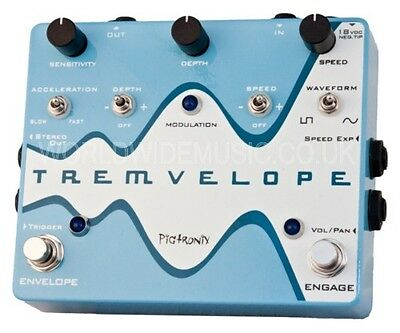 Pigtronix Tremvelope - Envelope Modulated Tremolo Effects Pedal / Stomp Box