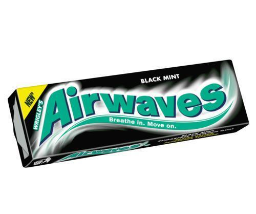 Wrigley's Airwaves Chewing Gum - Black Mint - Pack of 30