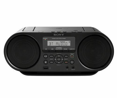 Sony Bluetooth Mega Bass Portable Am/fm Radio CD Aux USB Reader ZSRS60BT