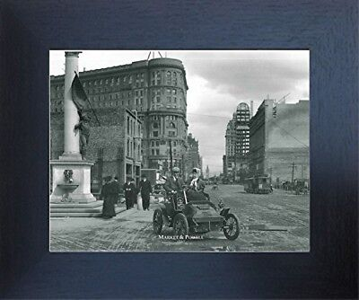 1907 Market And Powell Vintage Wall Decor Black and White Wall Framed Picture